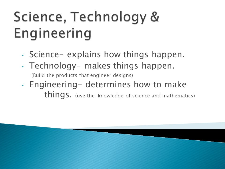Science, Technology & Engineering