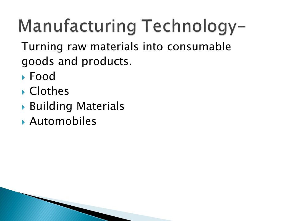 Manufacturing Technology-