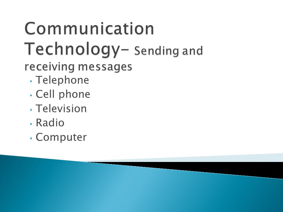 Communication Technology- Sending and receiving messages