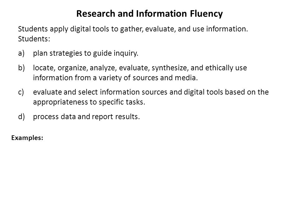 Research and Information Fluency