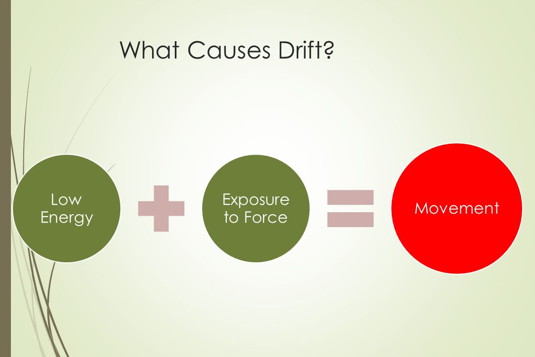 What Causes Drift Low Energy Exposure to Force Movement