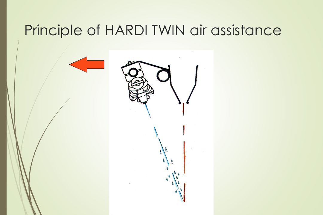 Principle of HARDI TWIN air assistance