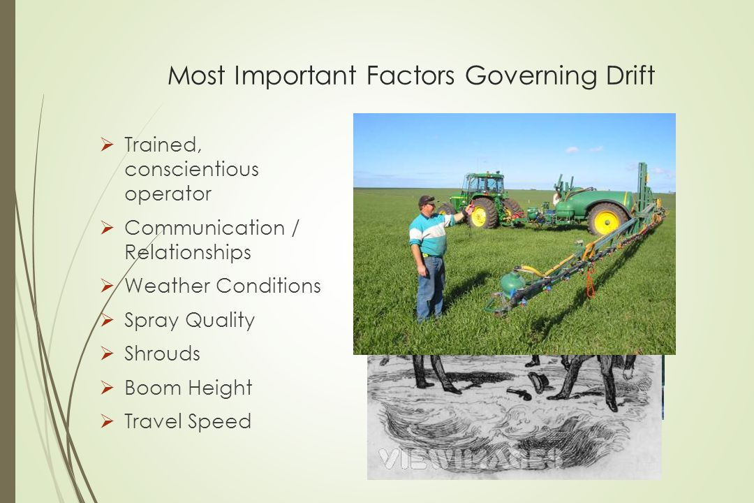 Most Important Factors Governing Drift