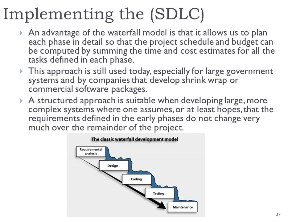 Implementing the (SDLC)