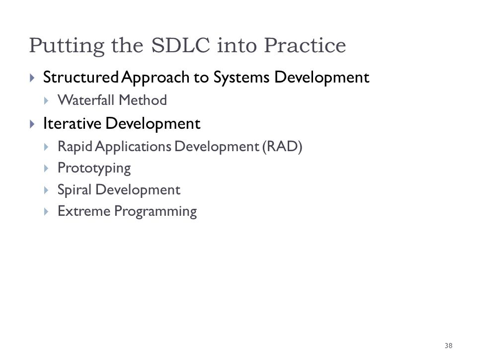 Putting the SDLC into Practice