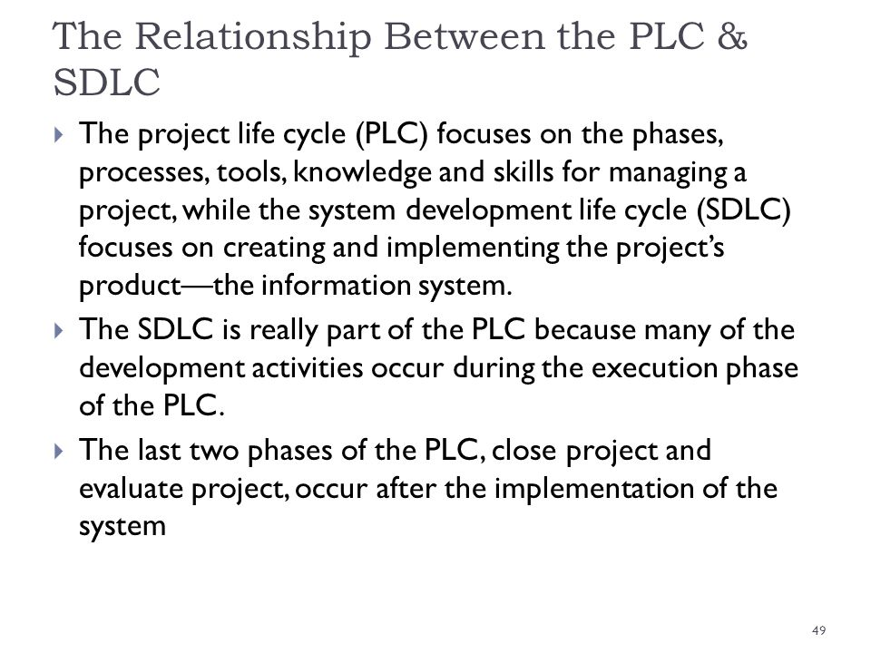 The Relationship Between the PLC & SDLC