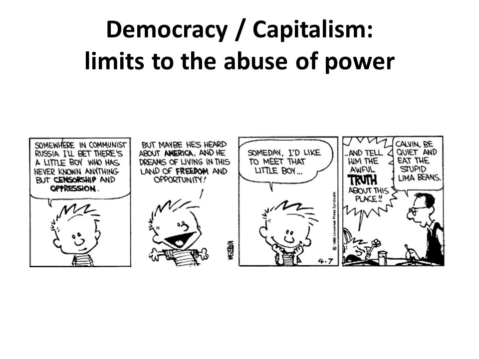Democracy / Capitalism: limits to the abuse of power