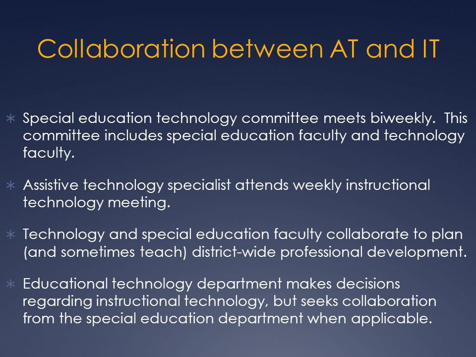 Collaboration between AT and IT