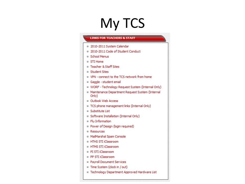 My TCS