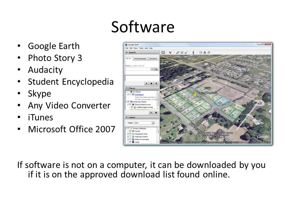 Software Google Earth Photo Story 3 Audacity Student Encyclopedia
