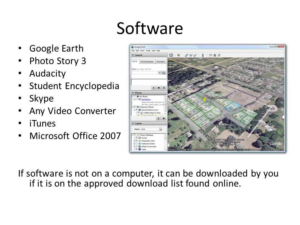 Software Google Earth Photo Story 3 Audacity Student Encyclopedia