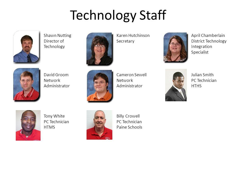 Technology Staff Shawn Nutting Director of Technology Karen Hutchinson