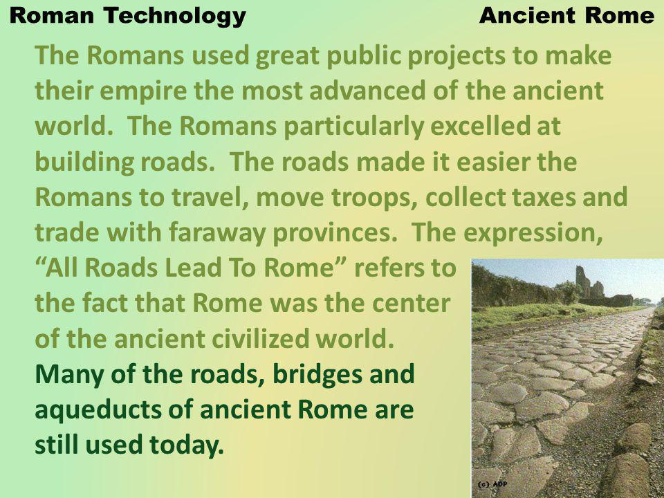 Roman Technology Ancient Rome