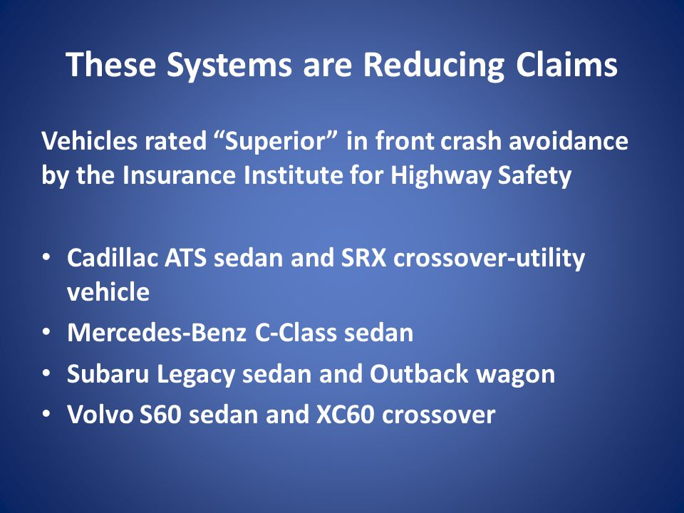 These Systems are Reducing Claims