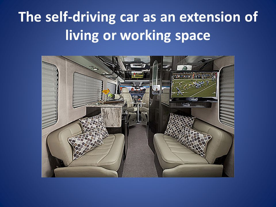 The self-driving car as an extension of living or working space