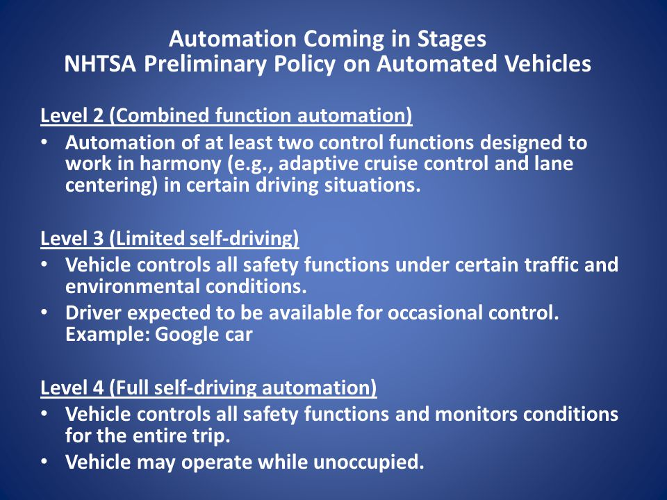 Automation Coming in Stages