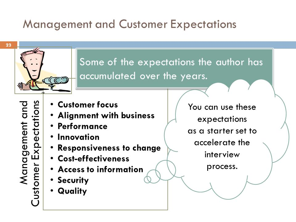 Management and Customer Expectations
