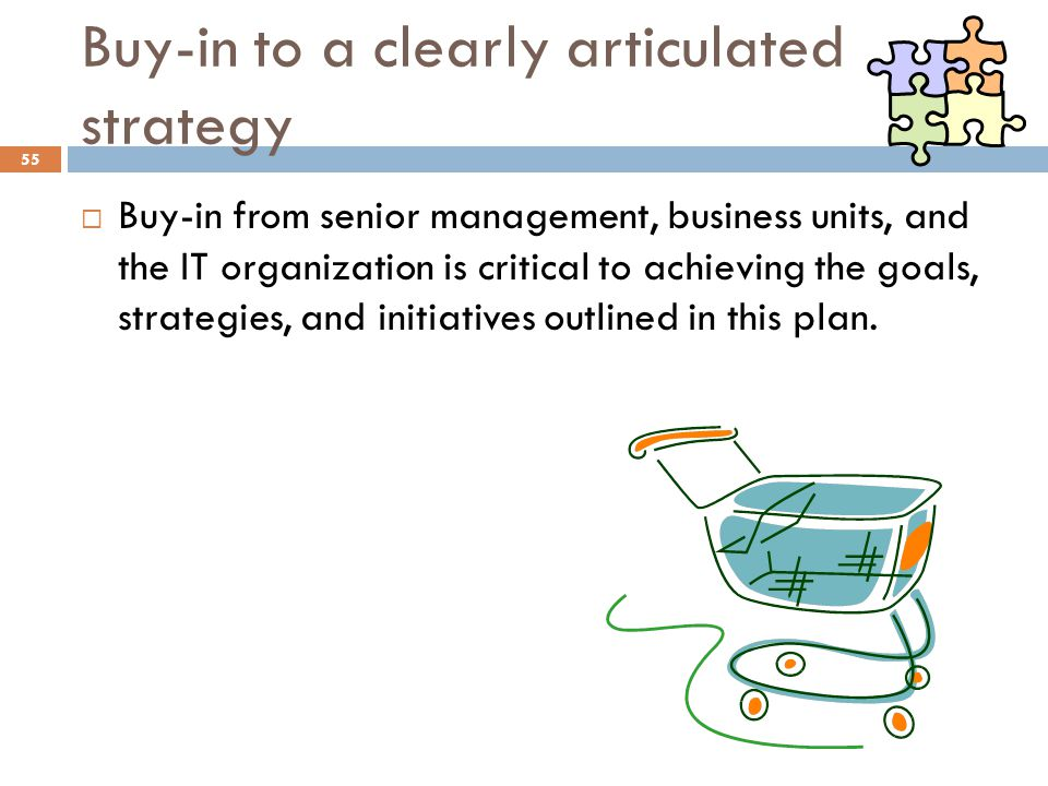Buy-in to a clearly articulated strategy