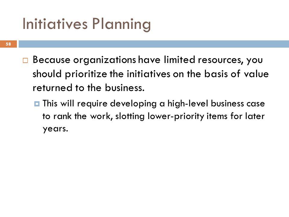 Initiatives Planning