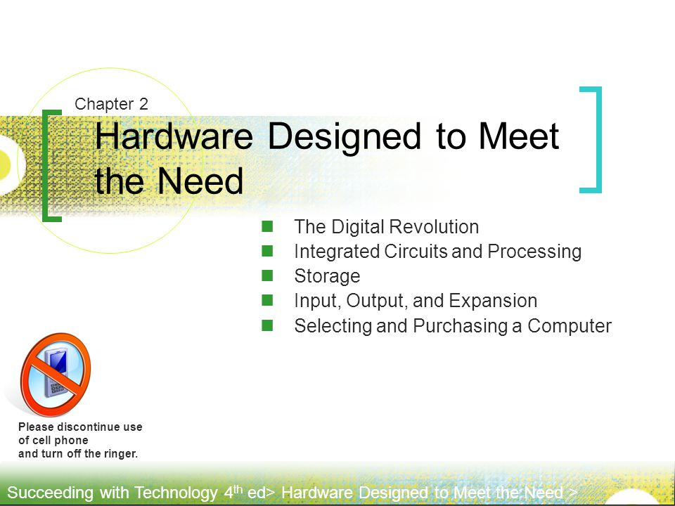 Hardware Designed to Meet the Need