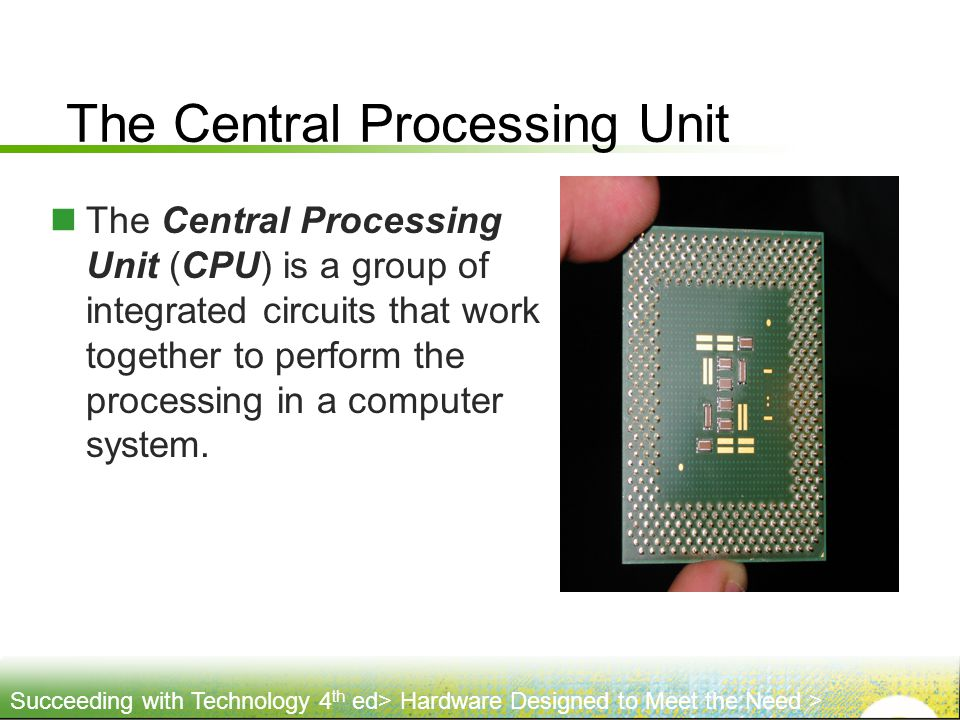 The Central Processing Unit
