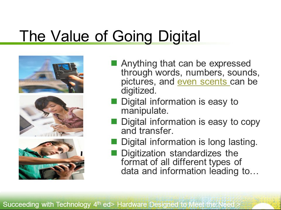 The Value of Going Digital
