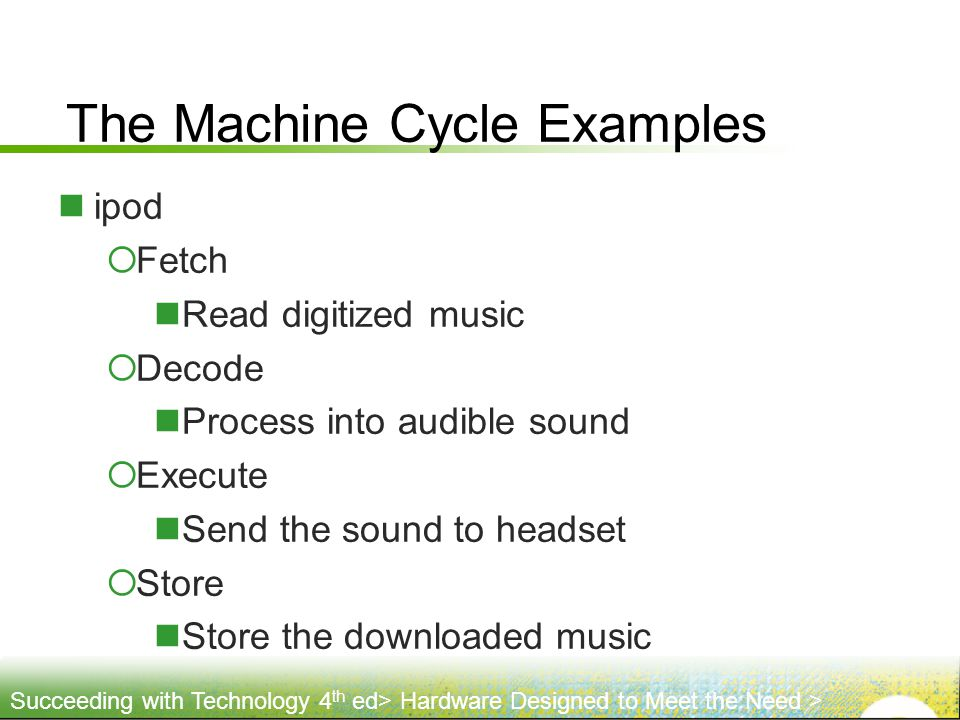 The Machine Cycle Examples