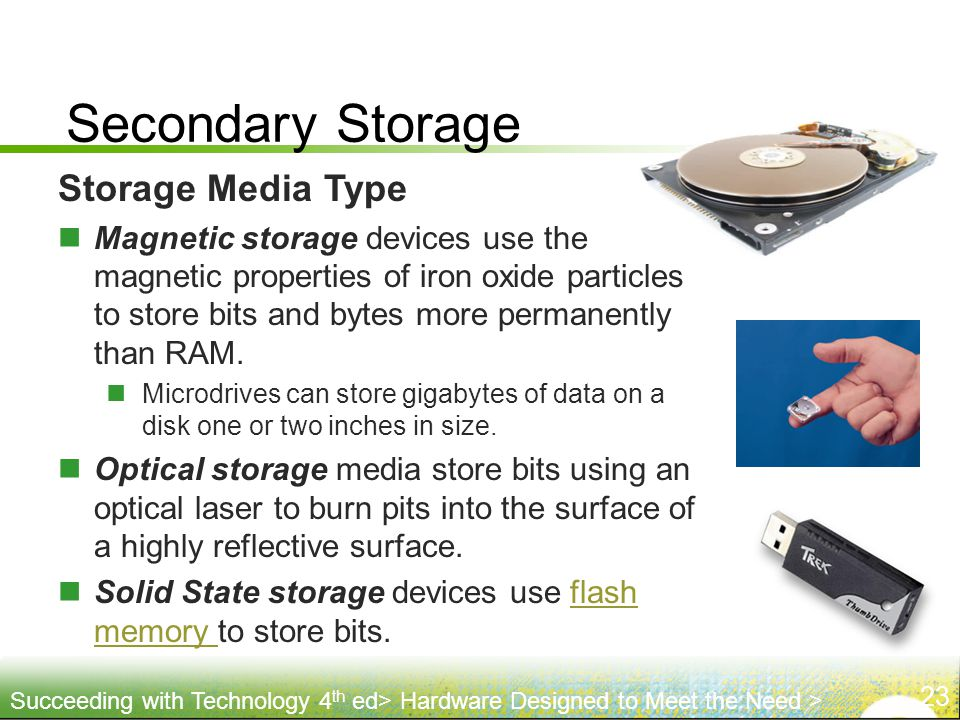 Secondary Storage Storage Media Type