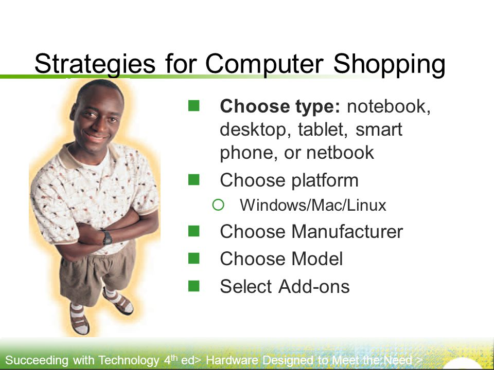 Strategies for Computer Shopping