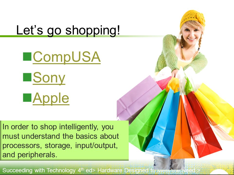 CompUSA Sony Apple Let's go shopping!