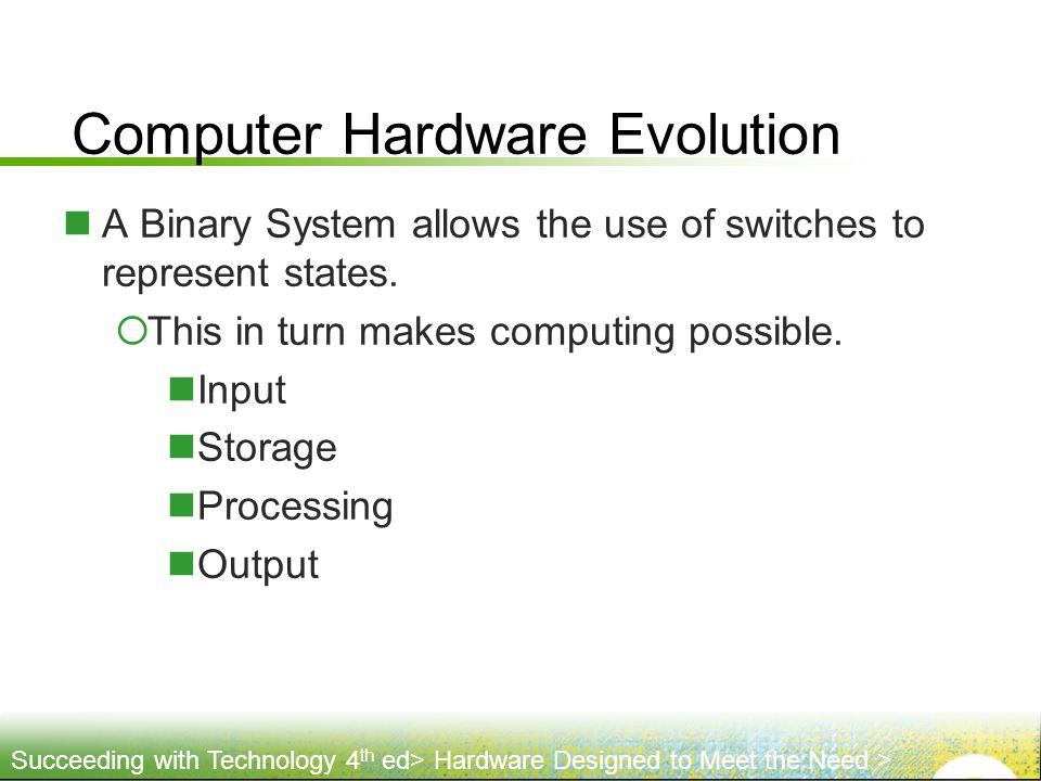 Computer Hardware Evolution