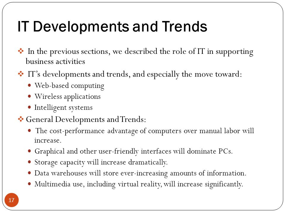 IT Developments and Trends
