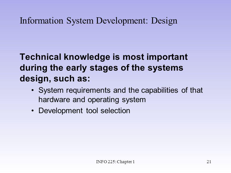 Information System Development: Design