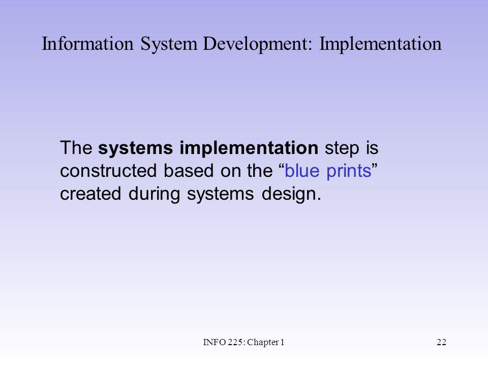 Information System Development: Implementation