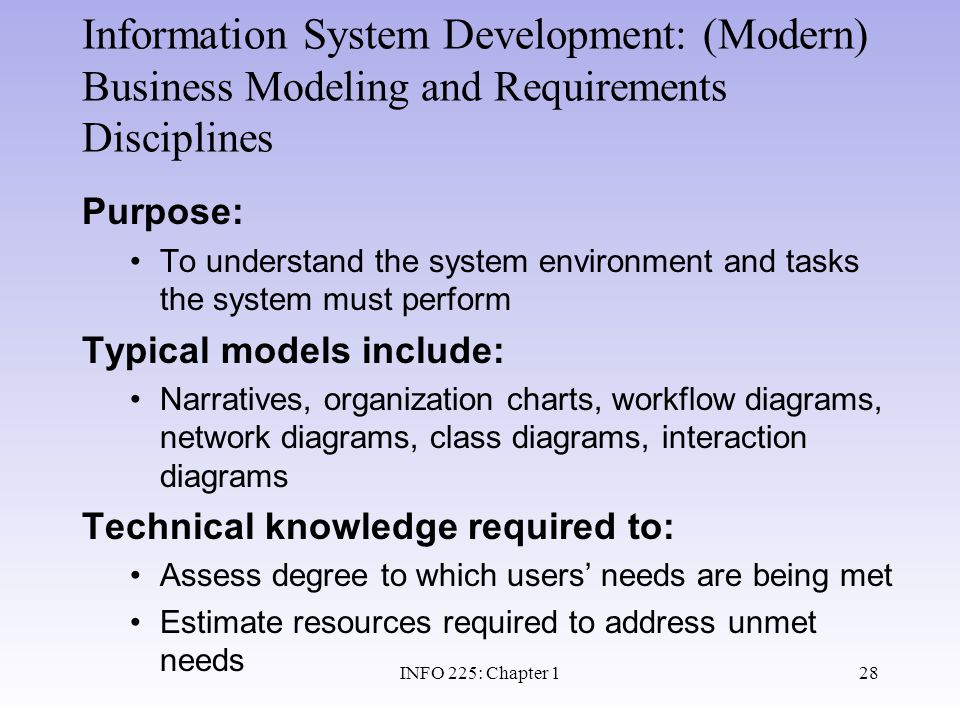 Information System Development: (Modern) Business Modeling and Requirements Disciplines