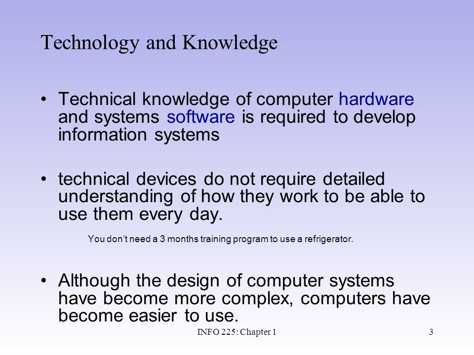 Technology and Knowledge