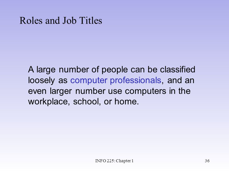 Roles and Job Titles