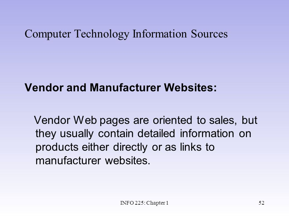 Computer Technology Information Sources