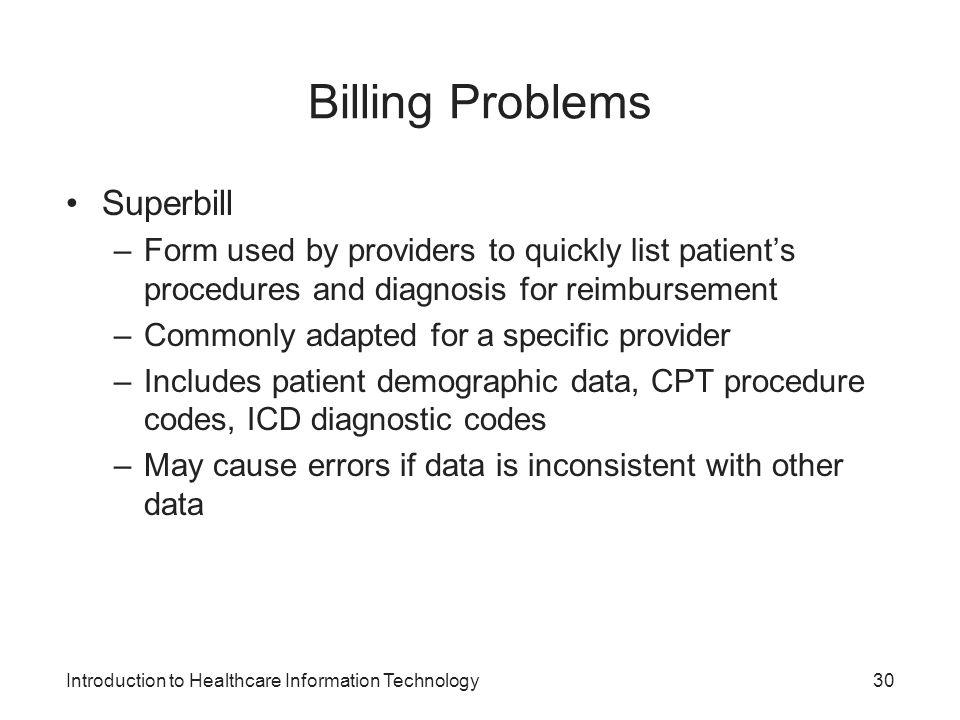 Billing Problems Superbill