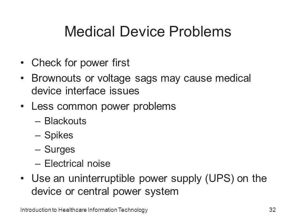 Medical Device Problems