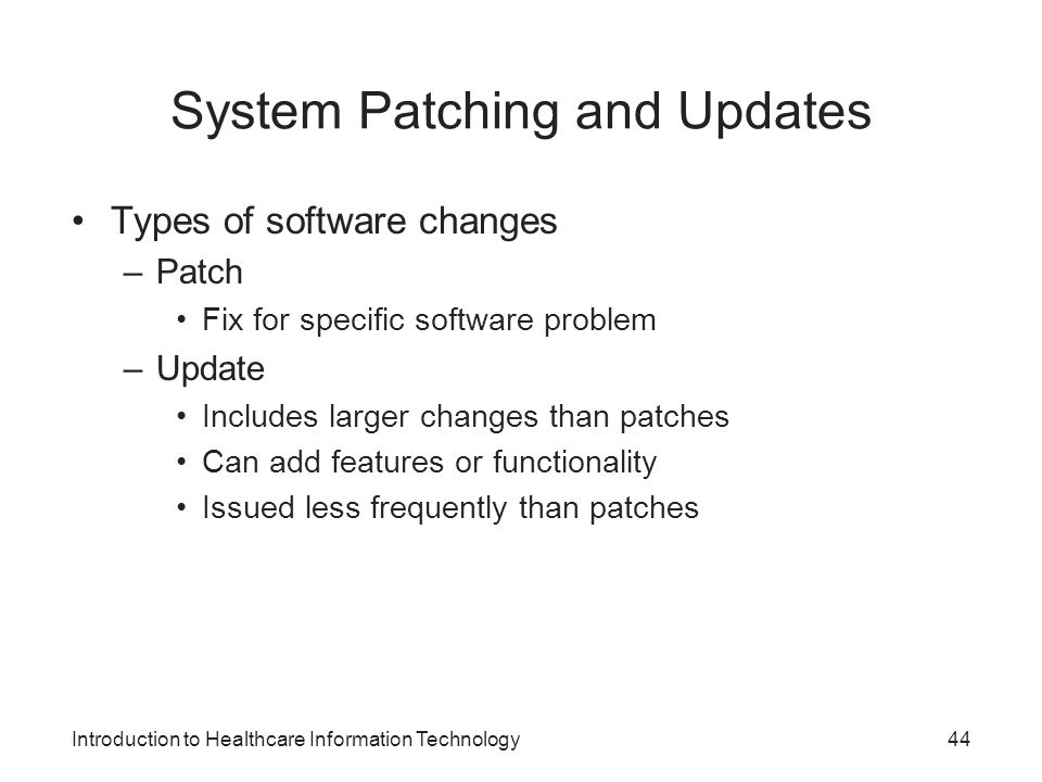 System Patching and Updates