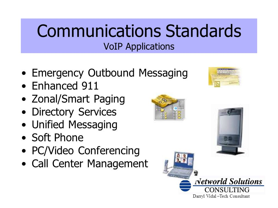 Communications Standards VoIP Applications