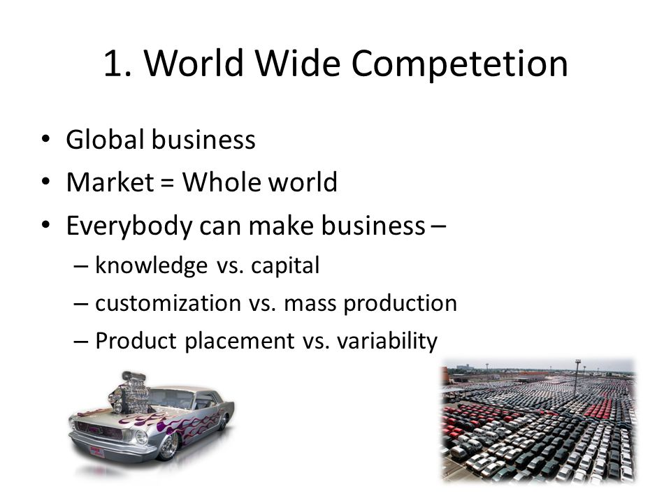 1. World Wide Competetion
