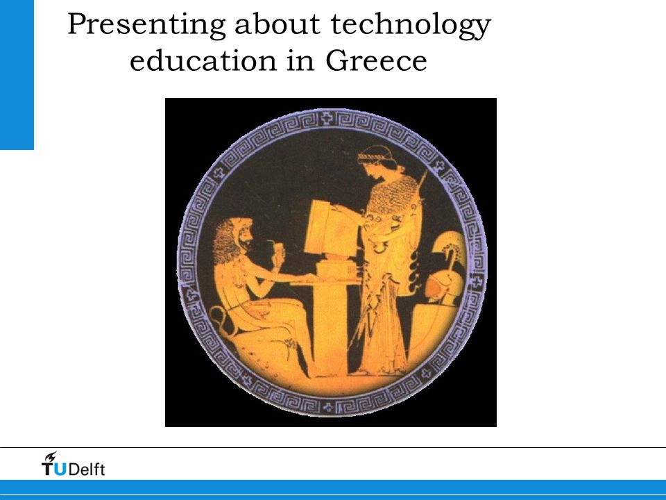 Presenting about technology education in Greece