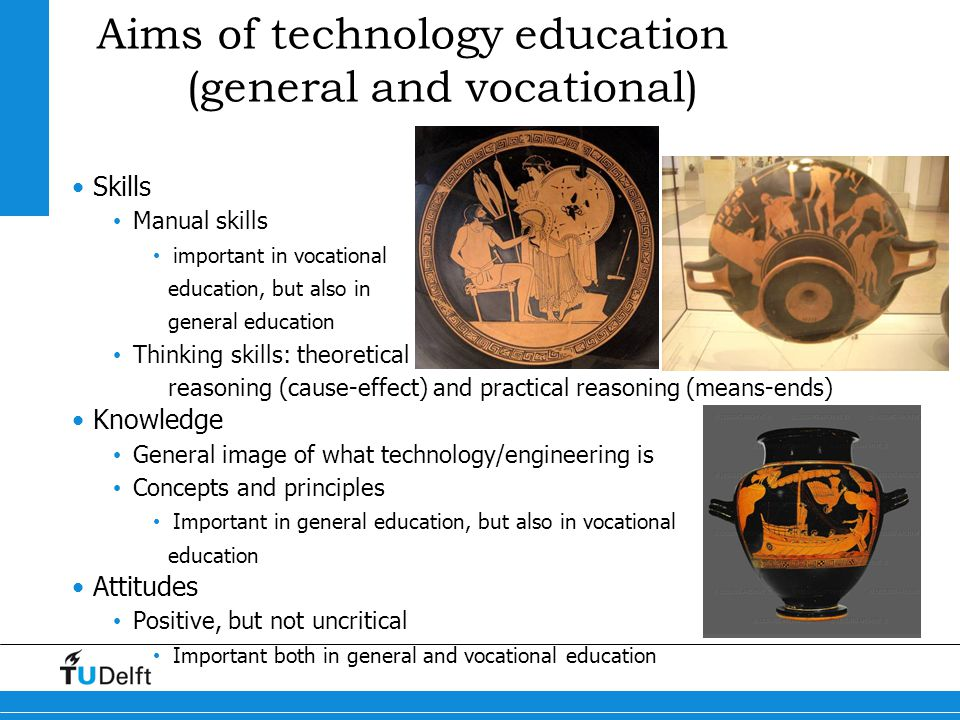 Aims of technology education (general and vocational)