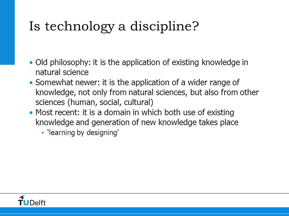 Is technology a discipline
