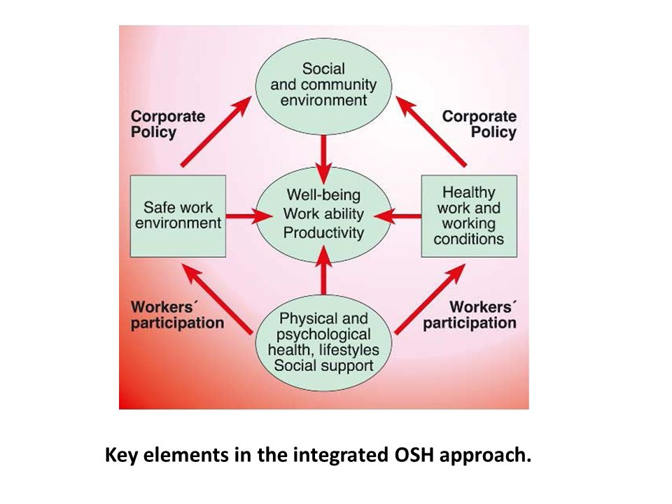 Key elements in the integrated OSH approach.