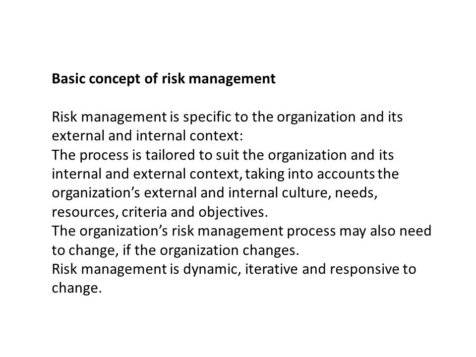 Basic concept of risk management