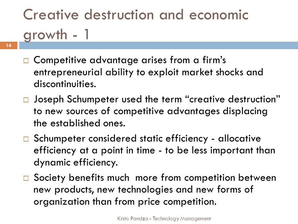 Creative destruction and economic growth - 1