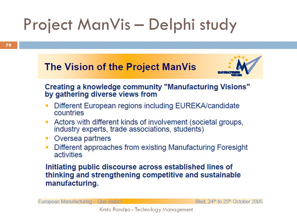 Project ManVis – Delphi study